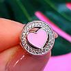 Шарм намистина Пандори Серце срібло 925 проби - Срібний шарм серце рожеве емаль, фото 4