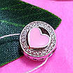 Шарм намистина Пандори Серце срібло 925 проби - Срібний шарм серце рожеве емаль, фото 3