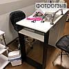 Стол для маникюра с ящиком каргор, 4 выдвижными ящиками и опорой черного цвета, фото 8