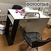Стол для маникюра с ящиком каргор, 4 выдвижными ящиками и опорой черного цвета, фото 6