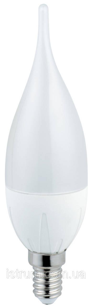 Лампа светодиодная (свеча на ветру) 6W E14 (3000К, 4000K) 180° NW, 500LM, 220V, Numina