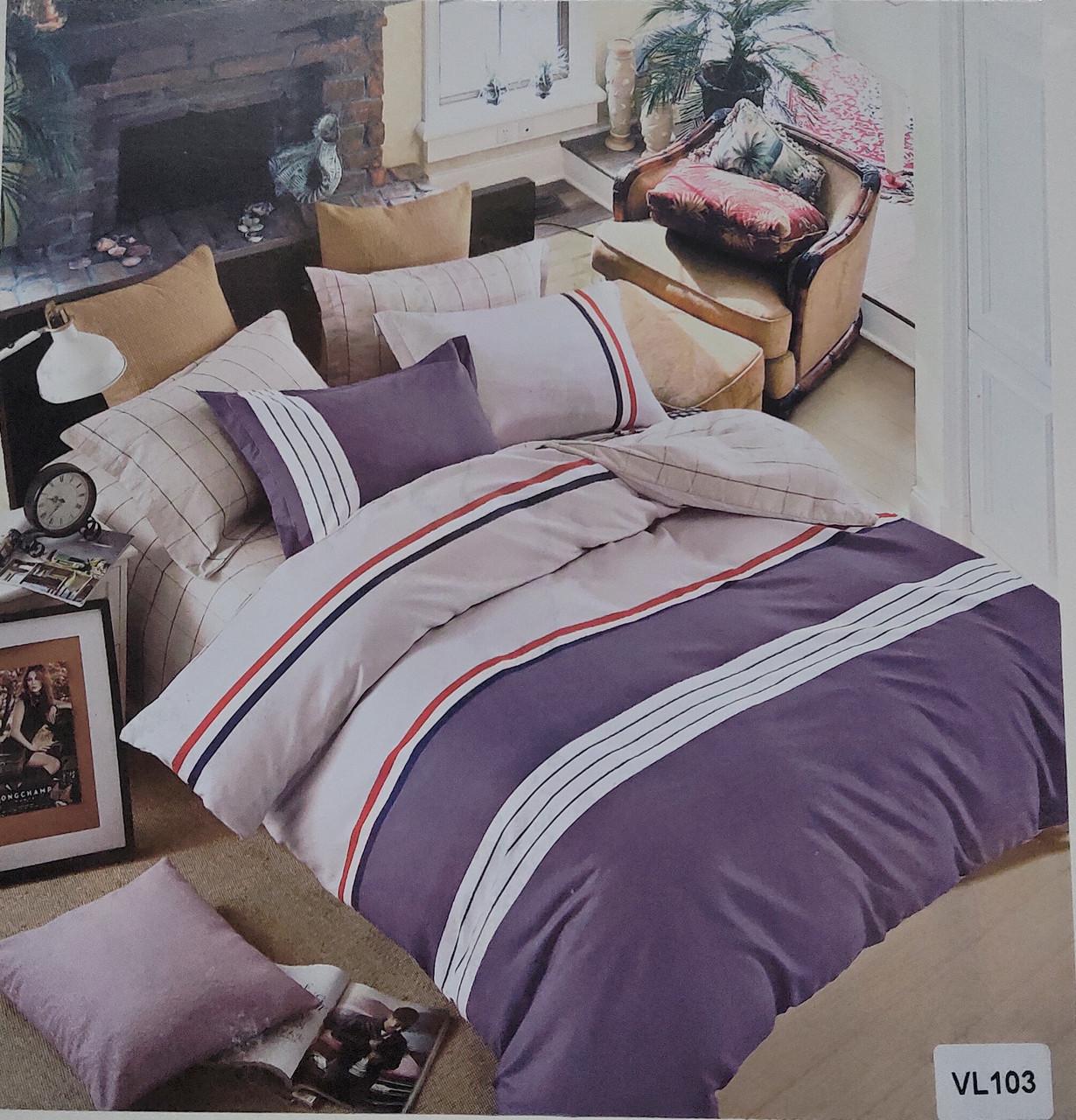 Комплект постельного белья микровелюр Vie Nouvelle Velour 200х220  VL103 Евро