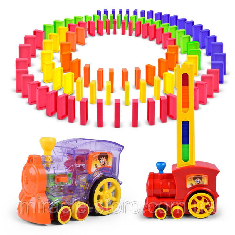 Автоматический домино поезд с паром
