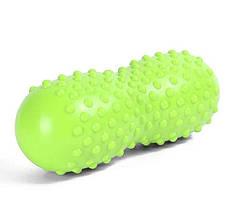 Массажный валик для спины, йоги, фитнеса в форме арахиса 30см, фото 3