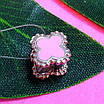 Серебряный шарм Клевер - Шарм клевер розовый - Серебряный шарм клевер с эмалью, фото 3