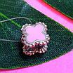 Срібний шарм Конюшина - Шарм конюшина рожева - Срібний шарм конюшина з емаллю, фото 3