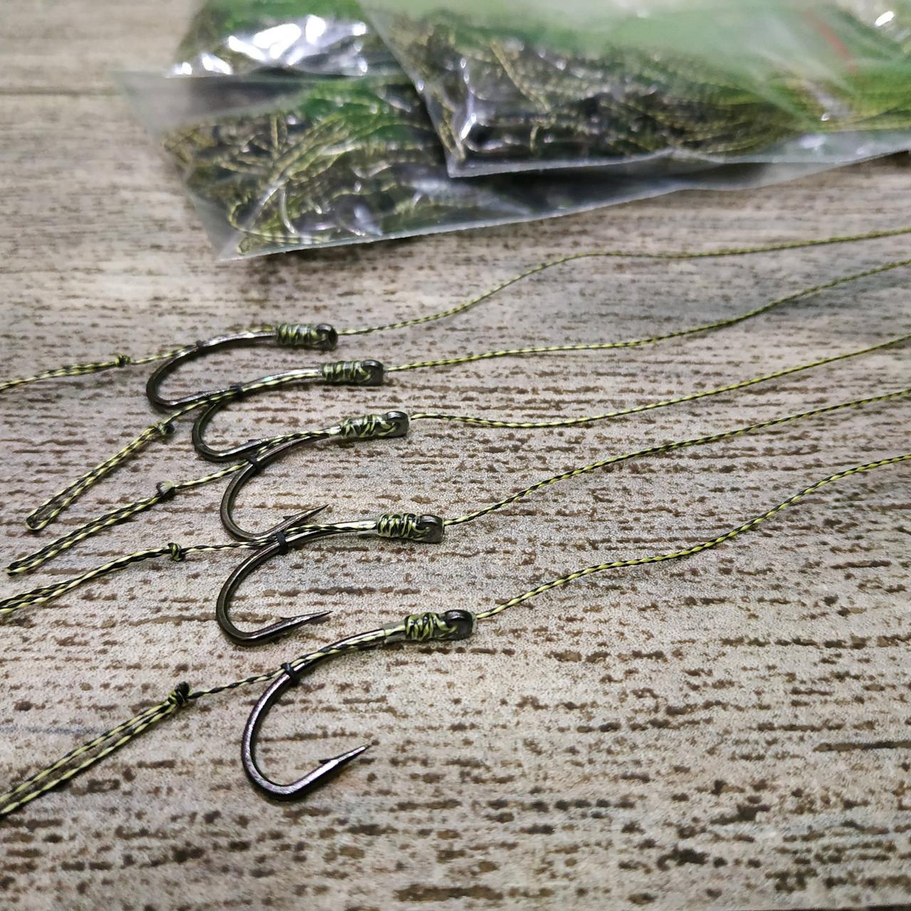 Карповый поводок под бойл (волос) на карпа и амура ,  крючки «Fudo Carp Hook» № 4 формы Банан