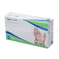 Перчатки виниловые неопудренные размер M - Care365 Premium смотровые одноразовые медицинские нестерильные