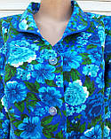 Теплый фланелевый халат 62 размер Синяя поляна, фото 5