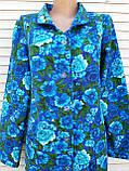 Теплый фланелевый халат 62 размер Синяя поляна, фото 8