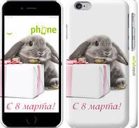 """Чехол на iPhone 6 Кролик с подарком """"1923c-45"""""""