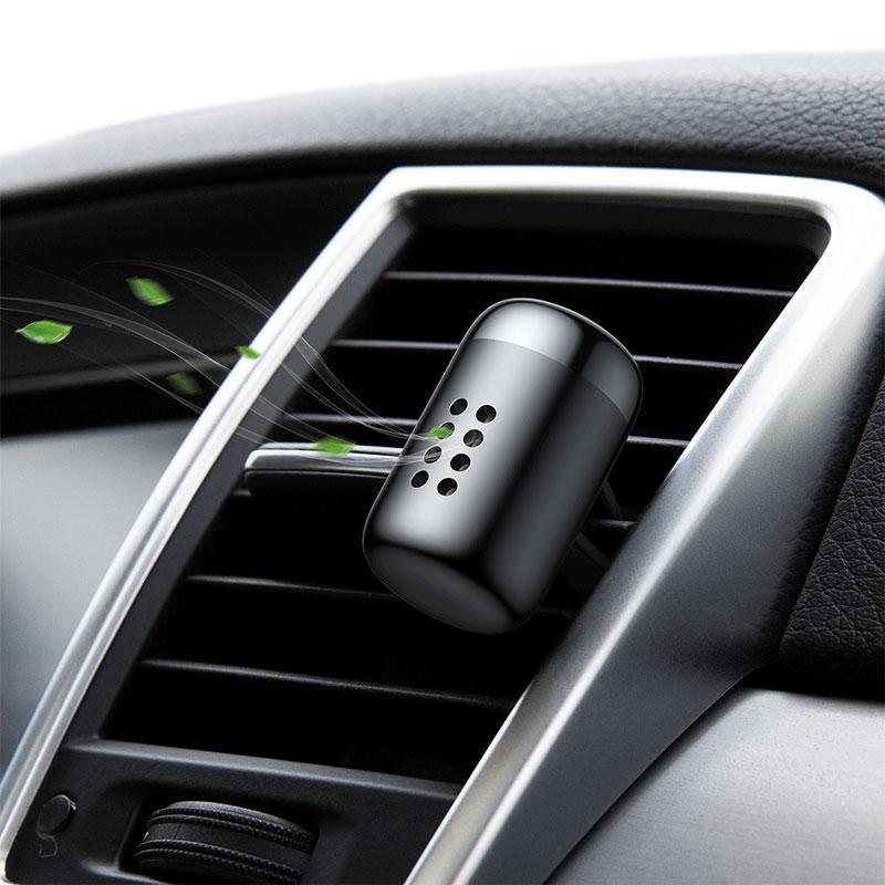 Ароматизатор-освіжувач повітря автомобільний (в машину) Baseus Little Fatty Чорний (SUXUN-PD01), фото 6