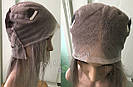 💥 Серый парик (как холодный русый) система из натуральных волос, полная сетка 💥, фото 7