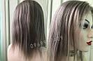 💥 Серый парик (как холодный русый) система из натуральных волос, полная сетка 💥, фото 5
