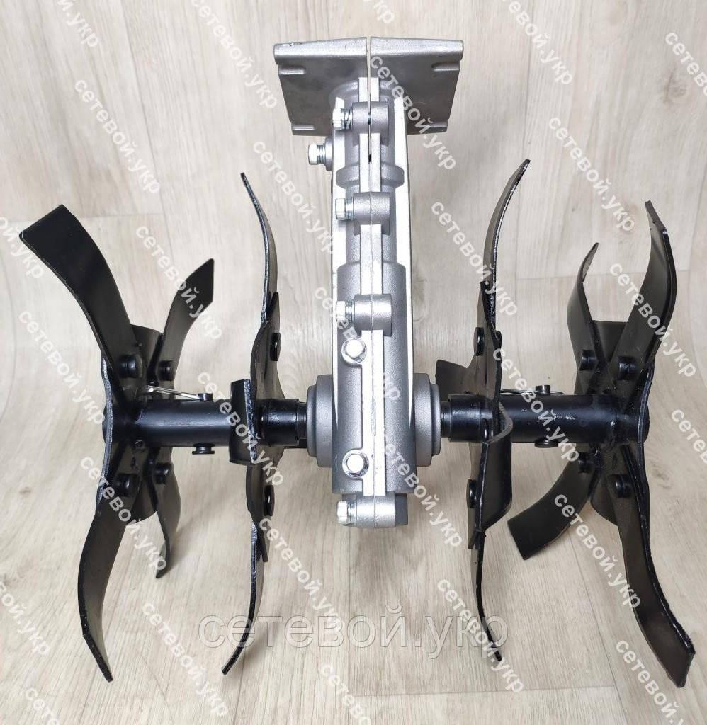 Насадка культиватор рыхлитель для мотокосы 26 мм штанга (вал 9 шлицов) на подшибниках