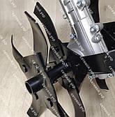 Насадка культиватор рыхлитель для мотокосы 26 мм штанга (вал 9 шлицов) на подшибниках, фото 3