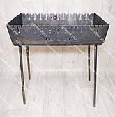 Мангал розкладний у валізу 3 мм 12 шампурів з дерев'яними ручками і чохлом в комплекті, фото 3