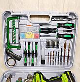 Аккумуляторный шуруповерт Белорус МТЗ18 2 ЛН в кейсе с набором инструментов, фото 2