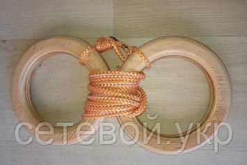 Деревянные гимнастические детские кольца (оранжевые) дляшведской стенки   , фото 2