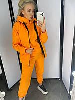 Стильный женский спортивный костюм тройка свитшот штаны жилетка