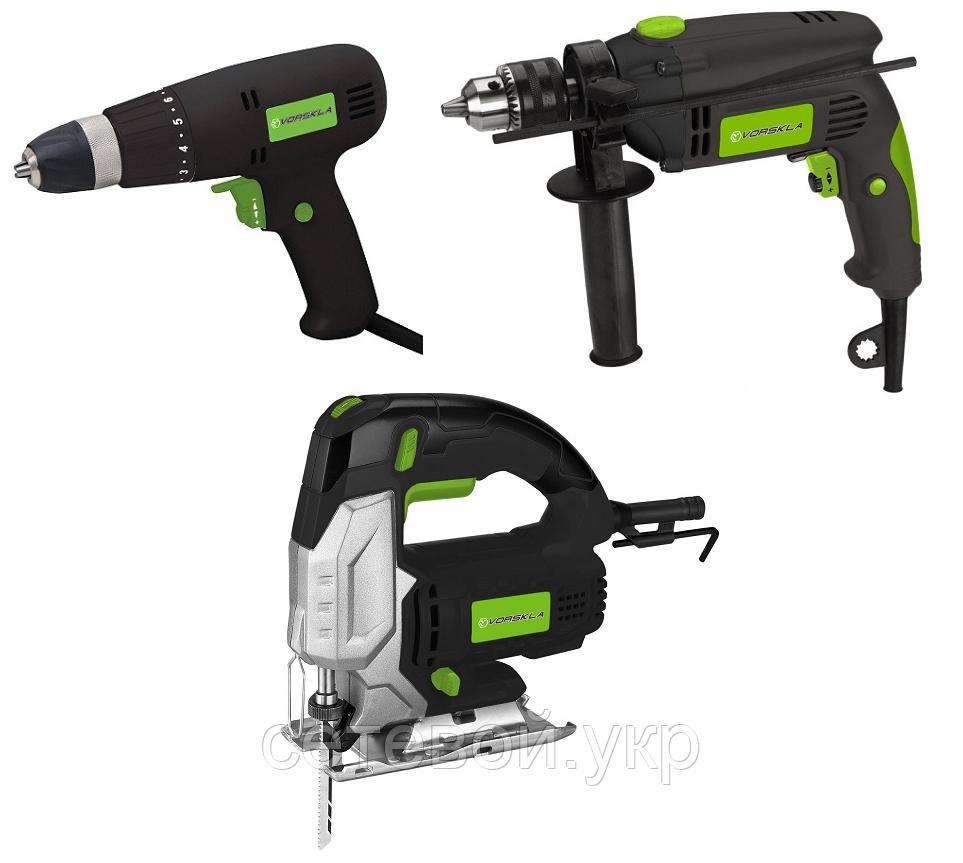 Набір електроінструменту: Електролобзик Мережевий шуруповерт Ударний дриль