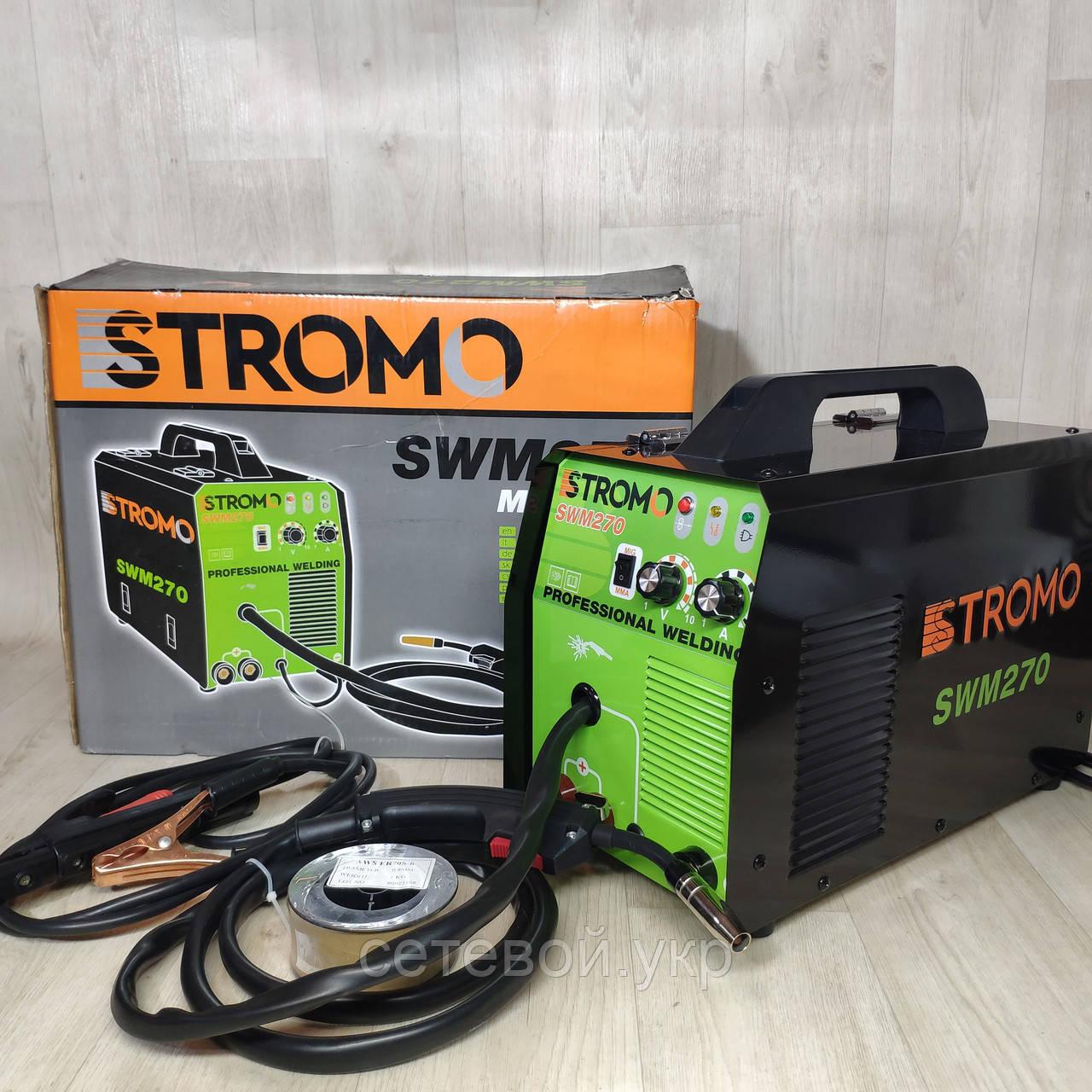 Зварювальний напівавтомат STROMO SWM270 (2 в 1, інверторний)