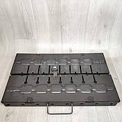 Мангал раскладной в чемодан толщиной 2мм с ножками на 8 шампуров, фото 2