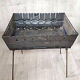 Мангал раскладной в чемодан толщиной 2мм с ножками на 8 шампуров, фото 3