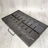 Мангал розкладний у валізу 2мм з шампурами 8 шт, фото 2