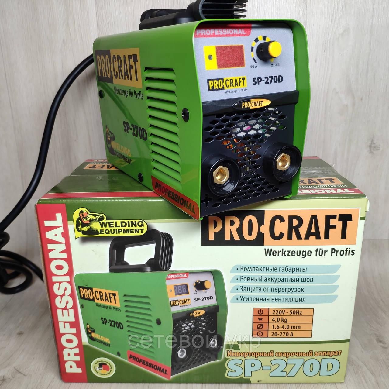 Сварочный аппарат инвертор Procraft SP-270D