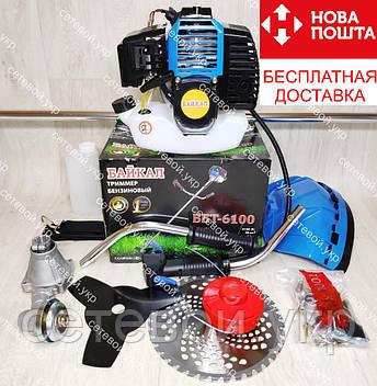 Бензокоса Байкал ББТ-6100 Professional 2 ножа 1 катушка мотокоса, фото 2