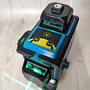 Уровень лазерный нивелир Kraissmann 12 3D-LL 25 зеленый луч на аккумуляторе, фото 2
