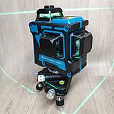 Уровень лазерный нивелир Kraissmann 12 3D-LL 25 зеленый луч на аккумуляторе, фото 3