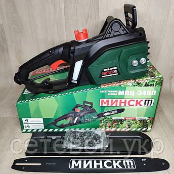 Электропила Минск МПЦ-3400 1 шина 1 цепь, фото 2
