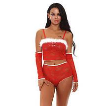 Эротический новогодний игровой костюм JF Year M/L Красный, фото 3