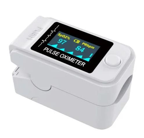 Пульсоксиметр портативный LK-89 для измерения уровня кислорода в крови и пульса белый