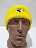 Шапка мужская зимняя теплая качественная с отворотом желтая, фото 6