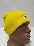 Шапка мужская зимняя теплая качественная с отворотом желтая, фото 3