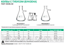 """Колба Бунзена для химии"" 250,500,1000 мл"