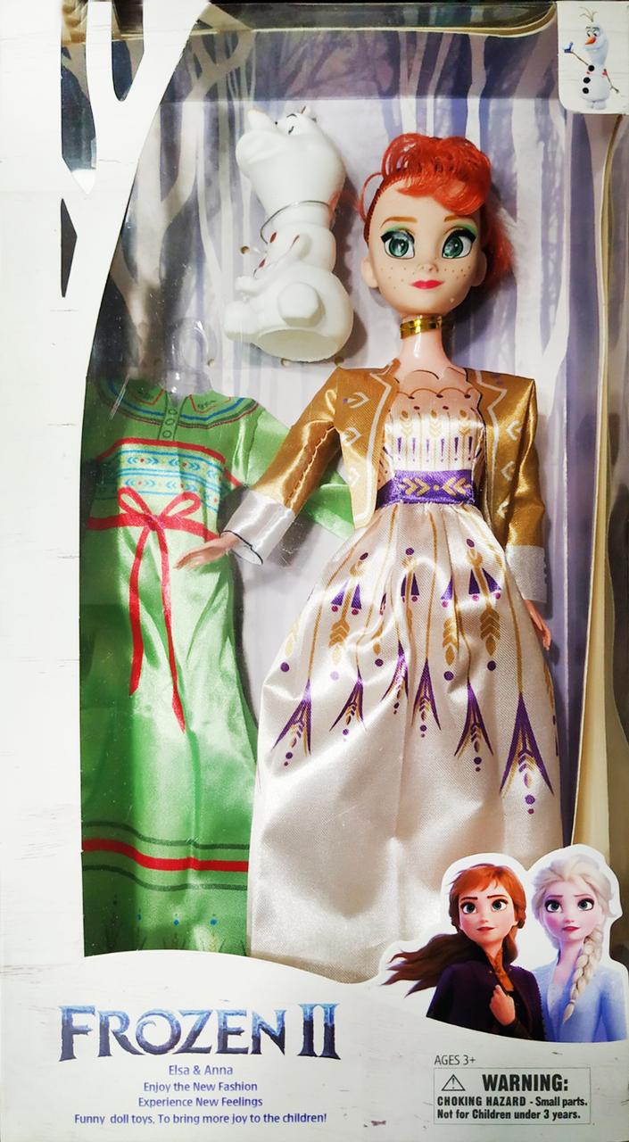 Кукла Холодное сердце Анна с дополнительным нарядом и Олаф