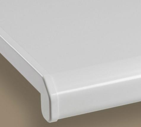 Подоконник Данке Комфорт белый матовый глубиной 300 мм