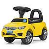 Каталка-толокар M 3147B (MP3) -6 MP3, багажник під сидінням, муз., бат., жовтий, 63,5-37-29 див.