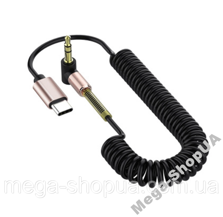 Аудио кабель Tiegem Premium AUX Type-C - mini jack 3.5мм. AUX-адаптер Type-C to AUX (3,5мм) CD431Q