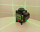 Лазерный уровень Hilda 4D 16 линий с дисплеем заряда ➜ ПУЛЬТ ➜ Зеленые лучи, фото 3