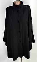 Пончо пальто великого розміру із шарфиком  64-66 ( Б-78), фото 2