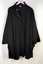 Пончо пальто великого розміру із шарфиком  64-66 ( Б-78), фото 3