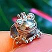 Серебряный шарм Царевна Лягушка - Шарм в стиле пандора Жабка серебро, фото 4