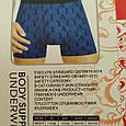Трусы мужские боксеры бамбук Veenice бордо буквы 48 размер, фото 5