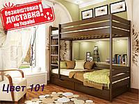 Кровать двухъярусная детская Дуэт Деревянная Бук Щит