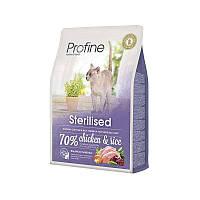 Profine (Профайн) Cat Sterilised - Сухой полноценный корм с курицей для стерилизованных котов и кошек (10 кг.)